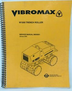 Vibromax W1500 Trench Roller Repair Service Manual