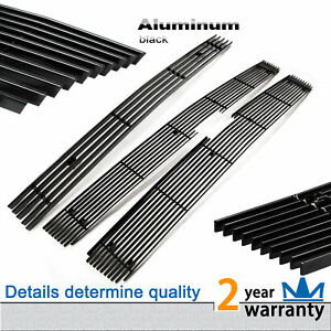 3pcs Black Billet Grille Grill Combo For Chevy Silverado 2500hd 3500hd 2007 2010