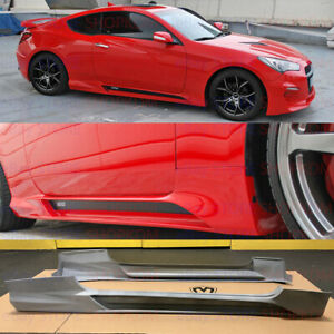 Us Ship M S Abs Hyper G Side Skirts For Hyundai Genesis Coupe 2009 2016