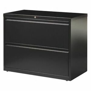 Hirsh 17457 42 W 2 Drawer Lateral File Cabinet Black Letter