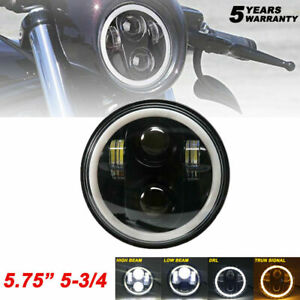 Brightest 90w 5 3 4 5 75 Inch Led Projector Headlight Drl For Motorcycle Motor