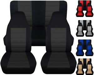 Front And Rear Car Seat Covers Fits Jeep Wrangler Yj Tj Lj 1985 2006 Nice Colors