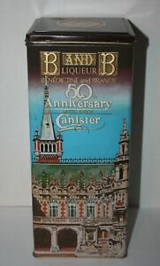B and B Liqueur Liquor Tin Canister Container 50th Anniversary