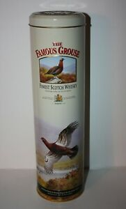 The FAMOUS GROUSE Finest Scotch Whisky Whiskey Liquor Tin Container