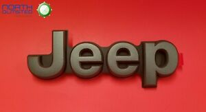 2019 2020 Jeep Cherokee Gray On Black jeep Rear Liftgate Nameplate