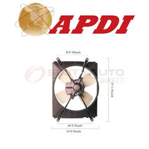 Apdi A c Condenser Fan Assembly For 1992 1996 Toyota Camry 2 2l L4 Air Wo