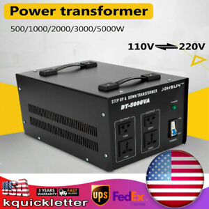 Voltage Converter Transformer Step Up down 110v 220v Breaker Protection 5000w