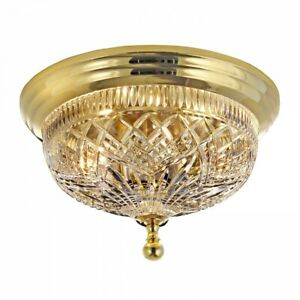 Waterford Beaumont Polished Brass 12in Ceiling Fixture