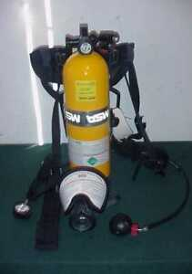 New Msa 809872 sp Scba Tank Cylinder 30 Min 2216 Psi W Frame Harness