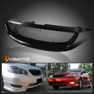 For 2003 2008 Toyota Corolla 1pc Front Mesh Style Grill Hood Grille Black