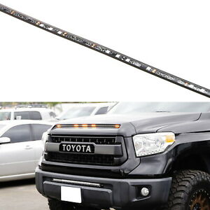 5 Bar Section Amber Raptor Style Led Hood Bulge Grille Light For Toyota Tundra