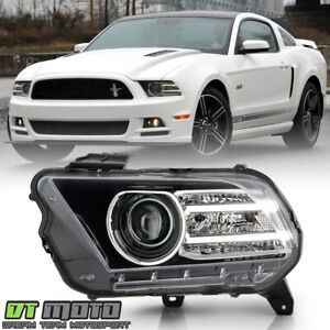 2013 2014 Ford Mustang Hid Xenon W Led Projector Headlight Headlamp Driver Side