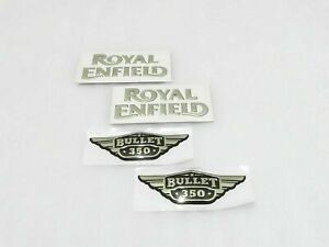 Re Fuel Tank Tool Box 350cc Golden Logo Sticker Fit For Royal