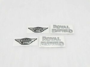 Re Fuel Tank Tool Box 350cc Silver Logo Sticker Fit For Royal