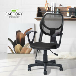 Mesh Mid back Office Chair Executive Computer Ergonomic Desk Seat Swivel