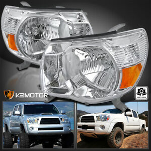 For 2005 2011 Toyota Tacoma Pickup Clear Headlights Lights Lamp Left Right 05 11