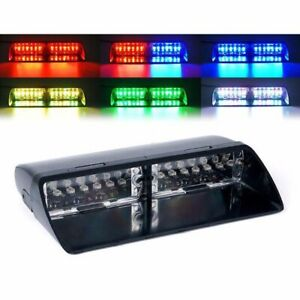 Car 16led 18 Flashing Rgb Police Emergency Vehicle Dash Warning Strobe Light Bar