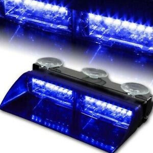 Car 16led 18 Flashings Blue Blue Emergency Vehicle Dash Warning Strobe Light