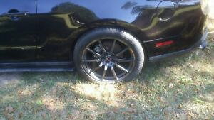 2012 Mustang Wheels And Tires With Custom Valve Stems