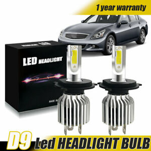H4 Hb2 9003 Led Headlight Kit High Low Beam Bulbs 6500k Fog Lights Replacements