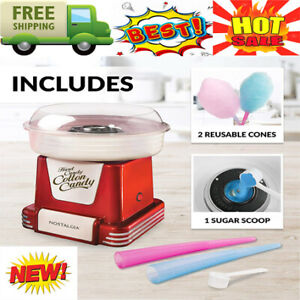 New Nostalgia Pcm805retrored Retro Hard Sugar Free Cotton Candy Maker Red