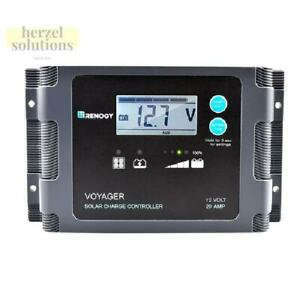 Renogy Voyager 20a Pwm Waterproof Charge Controller W Lcd Display And Led Bar