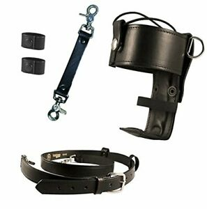 Boston Leather Firefighter s Bundle Anti sway Strap For Radio one Size black