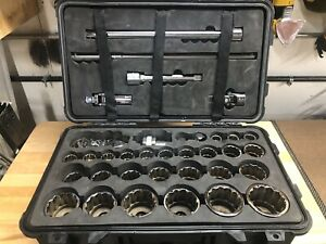 Snap on Sae 434hdc Tools 35 Piece 3 4 Drive General Service Socket Set