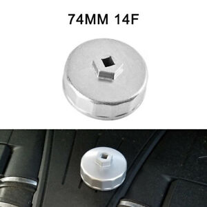 74mm Oil Filter Cap Wrench Cup Socket Remover Tool For Mercedes Benz Vw 14 Flute