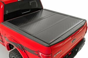 Rough Country Low Profile Hard Tri Fold Fits 15 20 Ford F150 5 5 Ft Bed Tonneau