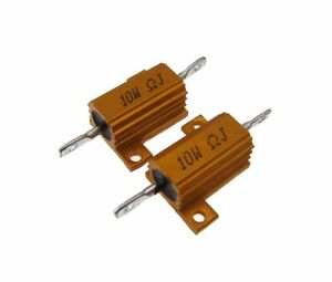 10w 3 Ohm Power Resistor Wirewound Aluminum Load Pack Of 2