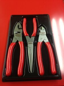 Snap On 3 Peice Side Cutters Pliers Needle Nose