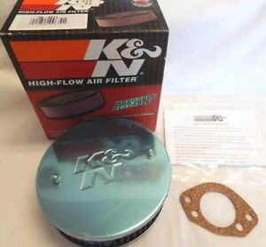 K n Air Cleaner Filter Assembly 56 9311 1 625 Fits Triumph Tr8 2 tall 5 875 Diam