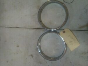 1966 Mercury Comet Chrome Headlight Bezel Used
