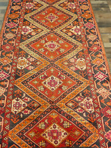 4 6 X12 Unique Vintage Authentic Detailed Shirazz Oriental Rug Runner