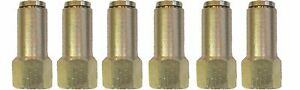 Air Suspension System 6 Brass Fittings 3 8 Npt Female To 1 4 Air Hose Push In