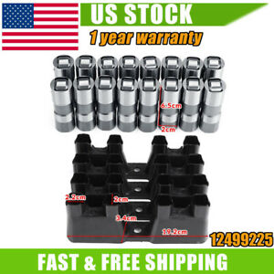 Ls7 Ls2 16pcs Performance Hydraulic Roller Lifters 4 Guides 12499225 Hl124 Us