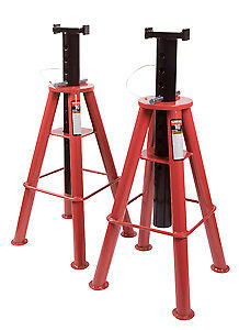 Sunex Tool 1410 10 Ton High Height Pin Type Jack Stands Pair Ships By Truck