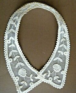 Old Vintage Collar Combo Brussels Net Lace And Princesse Tape Lace H Done