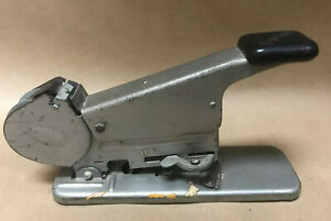Stapler Vintage Bates Model B Wire Feed Stapler With Wire Works Great
