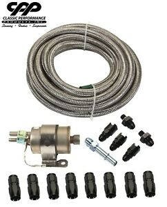 Braided Stainless Ls Conversion Efi Fuel Injection Hose Line Kit 58psi Regulator