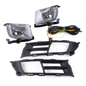 2x Front Fog Light Lamp Frame Wiring Harness Kit Fit For Kia Rio 2006 2011 Us