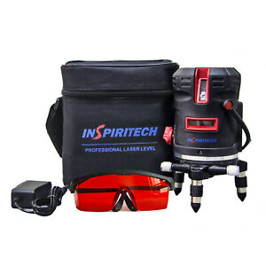 5 Lines Self Leveling 360 Rotary Laser Level Red Beam Battery Power