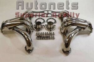 Sbc Small Block Chevy Stainless Steel Header 265 283 305 307 327 350 400 Shorty