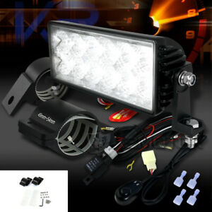 7 12 led Driving Work Fog Light Bar wiring Harness Kit 2 Mounting Brackets