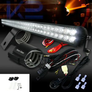 72 led Off Road 4x4 Row Roof 47 Work Light wiring Harness 2 Mounting Brackets