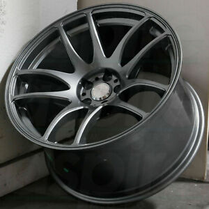 18x10 5 Esr Sr08 Grey Wheels 18 Inch 5x100 22 Concave Rims Set Of 4