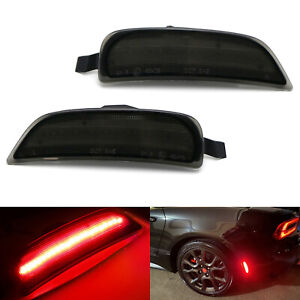 Smoke Lens Red Led Strip Rear Side Marker Light For 16 up Fiat 124 Spider Abarth