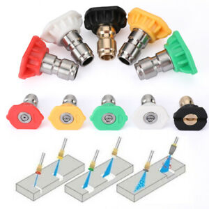 Power Pressure Washer Spray Nozzle 5 Pack Tip Set Variety Degrees Quick Connect