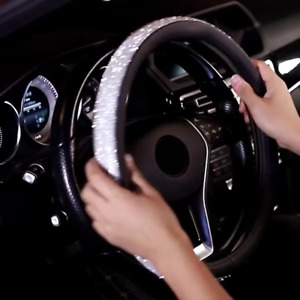 38cm Red Suede Leather Carbon Fiber Luxury Car Steering Wheel Cover For Bmw Benz